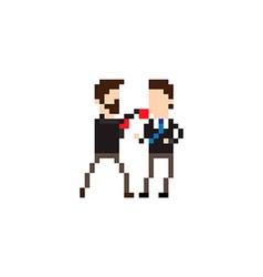 Pixel Fight vector image