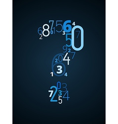 Question mark font from numbers vector