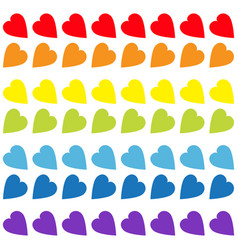 Rainbow heart set seamless pattern wrapping paper vector