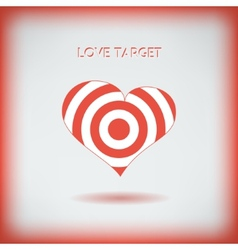Red heart target icon Love aim concept vector