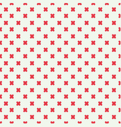 Red plus sign seamless pattern design vector