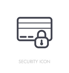 secured credit card icon vector image