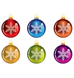 Set of transparent Christmas tree decorations vector image