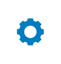 settings icon gear or cog simple blue icon vector image