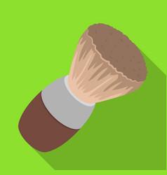 Shaving brushbarbershop single icon in flat style vector