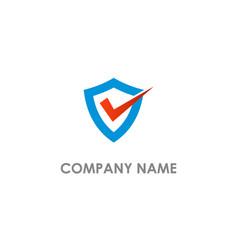 shield protect check mark logo vector image