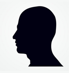 silhouette of a man s head vector image