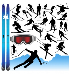Ski design elements vector