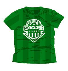 Soccer junior league emblem vector