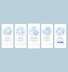 Spells onboarding mobile app page screen template vector