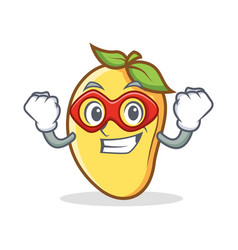 Super hero mango character cartoon mascot vector