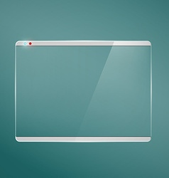 Transparent glass futuristic screen vector image