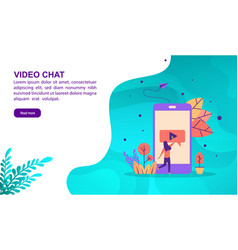 video chat concept with character template for vector image