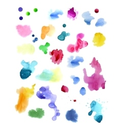 Watercolor splashes isolated on white background vector
