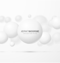 White realistic sphere vector image