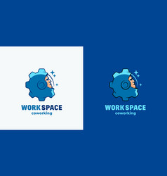 Work space coworking abstract sign emblem vector