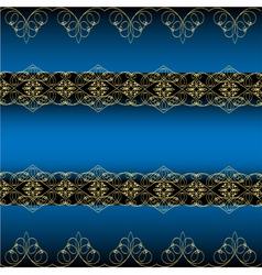 Blue Ornamental Background vector image
