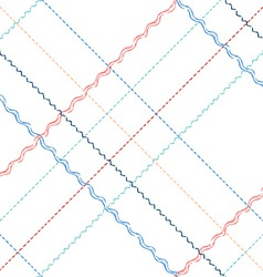Seamless pattern of sewing stitches vector image vector image