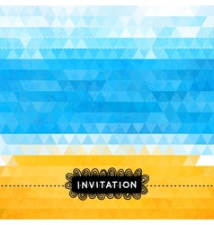 Triangle summer invitation with sea and beach vector image