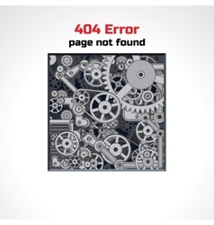 Error Page Design vector image