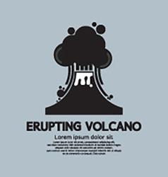 Erupting Volcano Natural Disaster vector image
