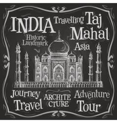 India logo design template Taj Mahal or vector image vector image