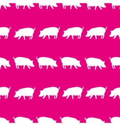 pig shadows silhouette in lines pink pattern eps10 vector image vector image