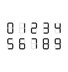 Set of digital number signs made up from seven vector image vector image