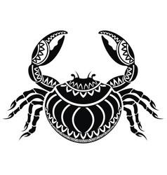 decorative crab vector image vector image