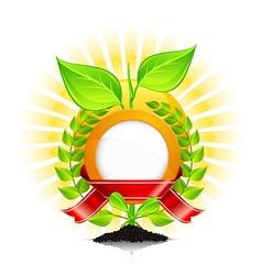 eoc green laurel wreath vector image