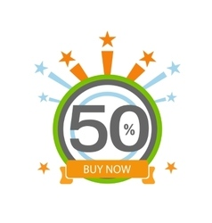 Fifty symbol years anniversary logo discount vector image