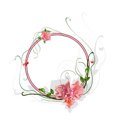 floral frame vector image vector image