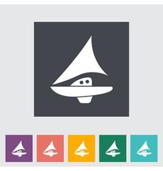 pleasure boat vector image