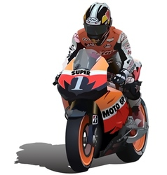 Superbike vector image vector image