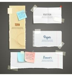 Torn Paper Banner Set vector image