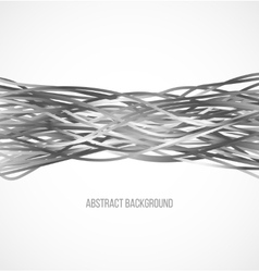 Absract gray background with horizontal lines vector image