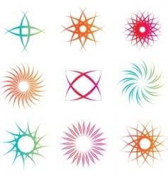 gothic circles vector image