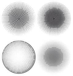 Halftone dot pattern vector image