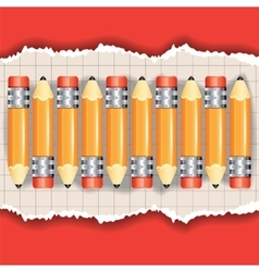 Set of the pencils vector image vector image