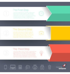 template for infographics vector image
