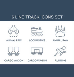 6 track icons vector