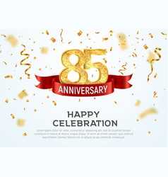 85 years anniversary banner template vector image
