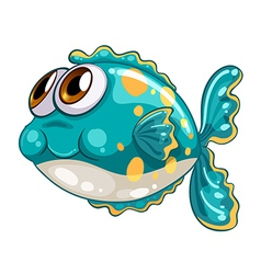 A bubble fish vector image