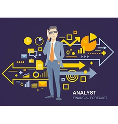 A portrait analyst man in a jacket han vector