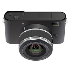 Abstract digital photo camera vector image