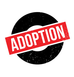 Adoption rubber stamp vector