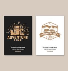 Adventure time flyer brochure banner poster vector
