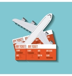 Airplane travel fly icon vector