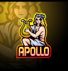Apollo esport logo mascot design vector