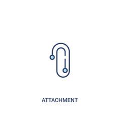 attachment concept 2 colored icon simple line vector image